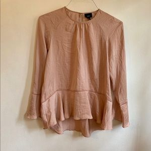Pale pink women's blouse size small